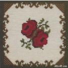 kruissteekkussen rode rozen