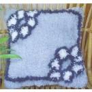knoopkussen blauwe bloemen (excl. knoophaak)