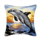kruissteekkussen dolfijn