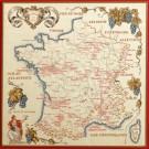 borduurpakket wijnkaart van frankrijk