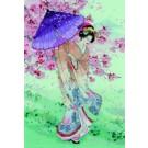 borduurpakket geisha met parasol