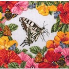 borduurpakket vlinders in bloemenpracht