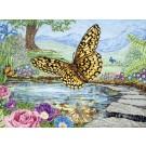 borduurpakket vlinders bij ochtendgloren