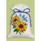 borduurpakket kruidenzakje, zonnebloemen