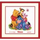 borduurpakket winnie de pooh, geboorte simon