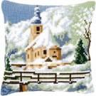 kruissteekkussen kerk in wintersfeer