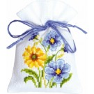 borduurpakket kruidenzakje, blauw/gele bloemen-1