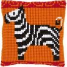 kruissteekkussen zebra