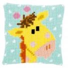 kruissteekkussen baby jungle, giraffe