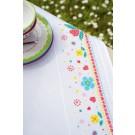 dekservet lief!, kleurige bloemen, wit met aida rand