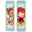 borduurpakket boekenlegger (2 st.) bambi/roodkapje
