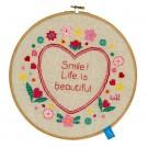 borduurpakket lief!, lach, het leven is mooi! (incl. borduurring)