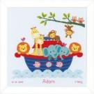 borduurpakket ark van noach, geboorte adam