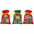 borduurpakket kruidenzakje (3 st.) kerstuiltjes