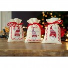 borduurpakket kruidenzakje (3 st.) kerstkabouters