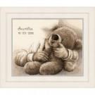 """borduurpakket """"knuffelbeer"""", geboorte aurelie"""