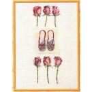 borduurpakket ballerinaschoentjes met rozen
