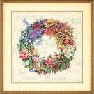 borduurpakket bloemenkrans, vier seizoenen