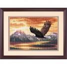 borduurpakket adelaarsvlucht bij avondschemering