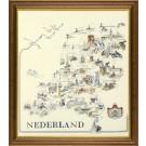 borduurpakket kaart van nederland