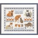 borduurpakket franciens katten, collage poezen