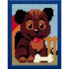 kruissteekwandkleed hondje-3