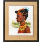 borduurpakket afrikaans meisje