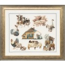 borduurpakket boerderij met dieren