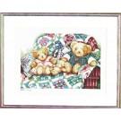 borduurpakket beren op patchworkdeken